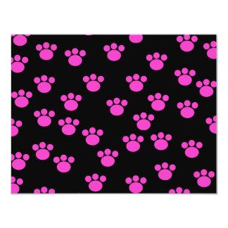 Modelo rosado y negro brillante de la impresión de invitación 10,8 x 13,9 cm