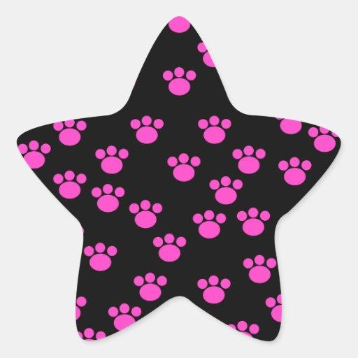 Modelo rosado y negro brillante de la impresión de calcomanía cuadrada