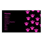Modelo rosado y negro brillante de la impresión de plantillas de tarjeta de negocio
