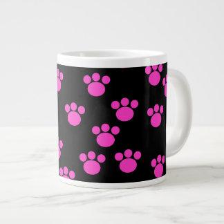 Modelo rosado y negro brillante de la impresión de taza grande