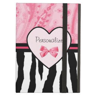 Modelo rosado y negro de moda de la cebra con nomb