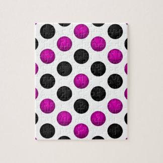 Modelo rosado y negro del baloncesto puzzles