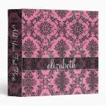 Modelo rosado y negro del damasco del vintage con