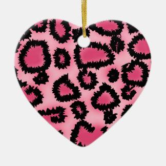 Modelo rosado y negro del estampado leopardo adornos de navidad