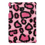 Modelo rosado y negro del estampado leopardo iPad mini cárcasa