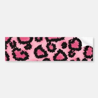 Modelo rosado y negro del estampado leopardo pegatina para auto
