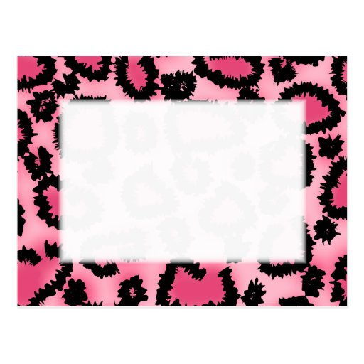 Modelo rosado y negro del estampado leopardo postal