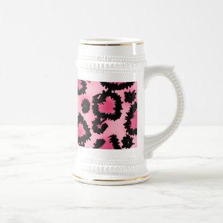 Modelo rosado y negro del estampado leopardo tazas