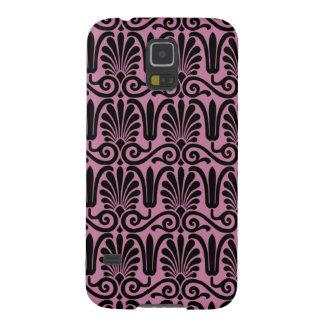 Modelo rosado y negro del estilo del Victorian Fundas De Galaxy S5