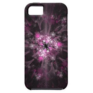 Modelo rosado y negro del fractal iPhone 5 carcasas