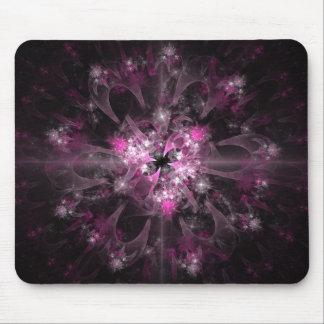 Modelo rosado y negro del fractal alfombrillas de raton