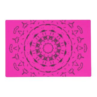 Modelo rosado y negro tapete individual