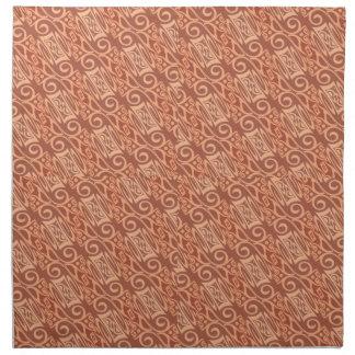 modelo rosado y poner crema del papel pintado servilleta imprimida