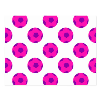 Modelo rosado y púrpura de Soccerball Postal