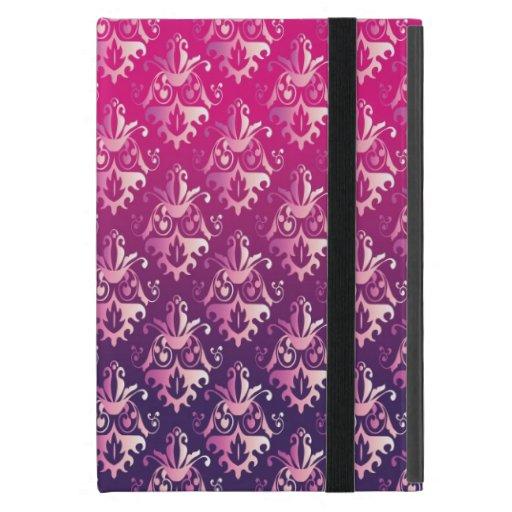 Modelo rosado y púrpura del damasco iPad mini cárcasas