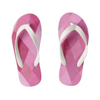 Modelo rosado y púrpura del diamante chanclas para niños