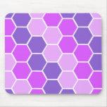 Modelo rosado y púrpura del hexágono alfombrilla de ratón