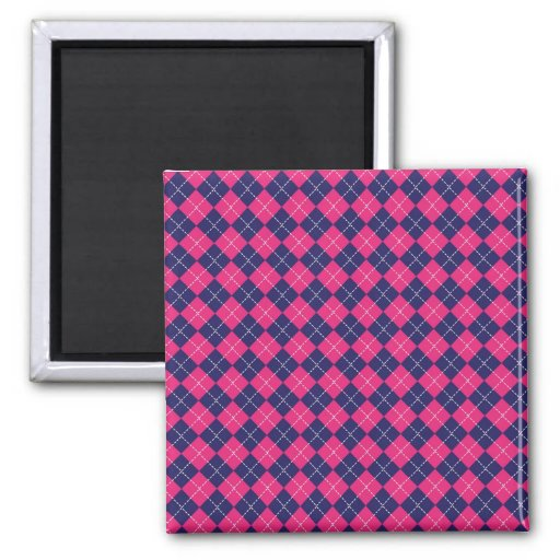 Modelo rosado y púrpura femenino del diamante de imán cuadrado