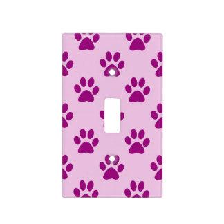 Modelo rosado y púrpura lindo de la impresión de tapa para interruptor