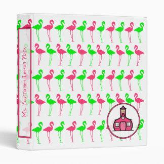 Modelo rosado y verde de la carpeta del profesor -