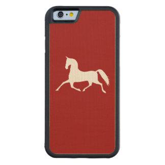 Modelo rosado y verde de la cinta del pedazo funda de iPhone 6 bumper arce