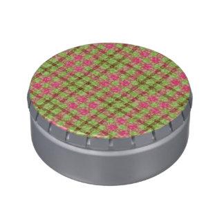 Modelo rosado y verde elegante de los controles jarrones de caramelos