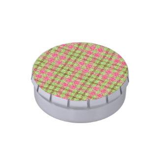 Modelo rosado y verde elegante de los controles frascos de dulces