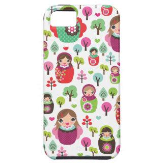 Modelo ruso de los niños de las muñecas del funda para iPhone SE/5/5s