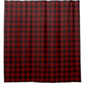 Modelo rústico de la tela escocesa del control del cortina de baño