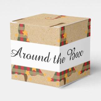 Modelo rústico de los árboles de navidad caja para regalos de fiestas