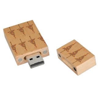 Modelo rústico de los árboles de navidad memoria USB 2.0 de madera