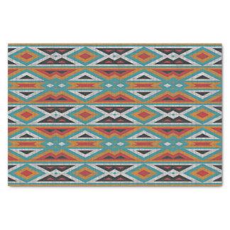 Modelo rústico del indio del nativo americano del papel de seda pequeño