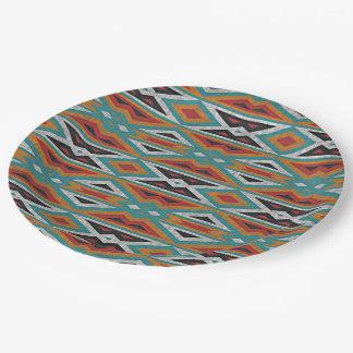 Modelo rústico del indio del nativo americano del platos de papel