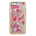 Modelo sabroso con los pájaros y las flores funda para iPhone 6 plus incipio feather shine