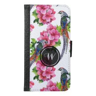 Modelo salvaje colorido de los pájaros y de flores