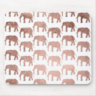 Modelo salvaje de los elefantes del oro color de alfombrilla de raton
