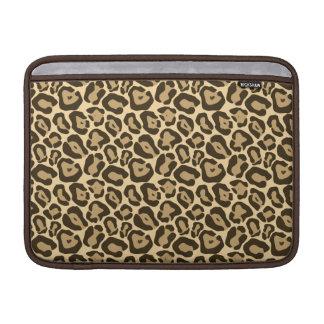 Modelo salvaje del leopardo funda para macbook air