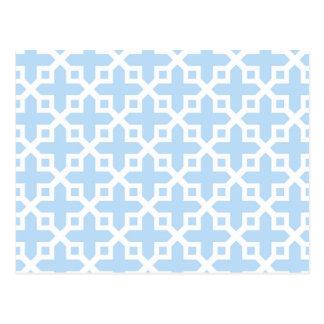 Modelo seccionado transversalmente azul claro y postal