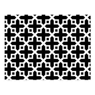 Modelo seccionado transversalmente blanco y negro tarjeta postal