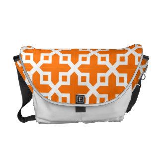 Modelo seccionado transversalmente del naranja y bolsa de mensajeria