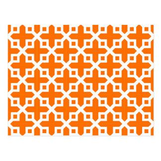 Modelo seccionado transversalmente del naranja y postal