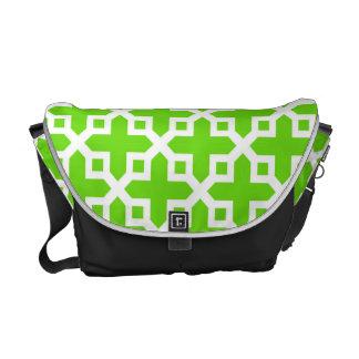 Modelo seccionado transversalmente verde claro bolsas messenger