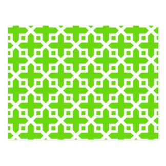 Modelo seccionado transversalmente verde claro tarjetas postales