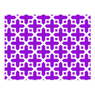 Modelo seccionado transversalmente violeta y postales