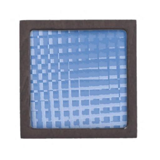 Modelo silenciado azul abstracto de los azules de  cajas de regalo de calidad