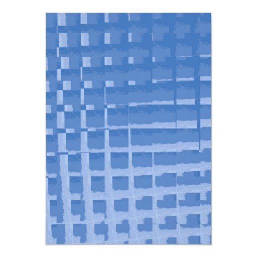 Modelo silenciado azul abstracto de los azules de invitación 12,7 x 17,8 cm