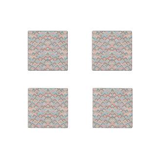 Modelo simétrico de las ojeadas del zigzag imán de piedra