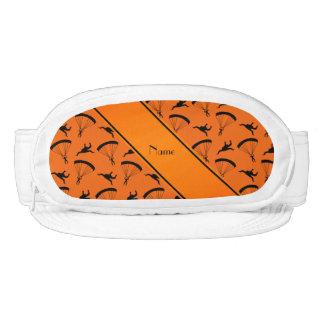 Modelo skydiving anaranjado conocido personalizado visera