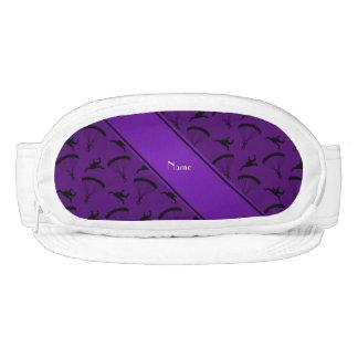 Modelo skydiving púrpura conocido personalizado visera