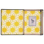 Modelo soleado amarillo retro iPad cárcasa